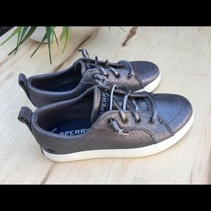 Sperry Girls' Crest Vibe Pewter Sneakers NEW